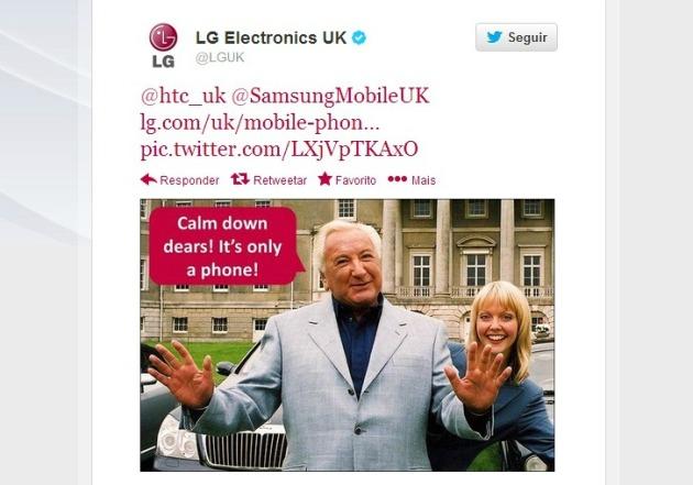 LG tweet samsung HTC
