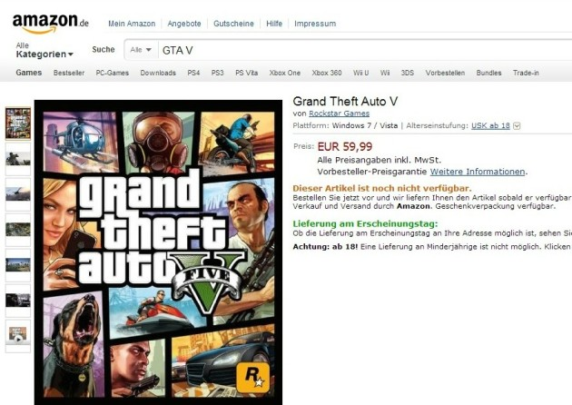 GTA V PC pré-venda