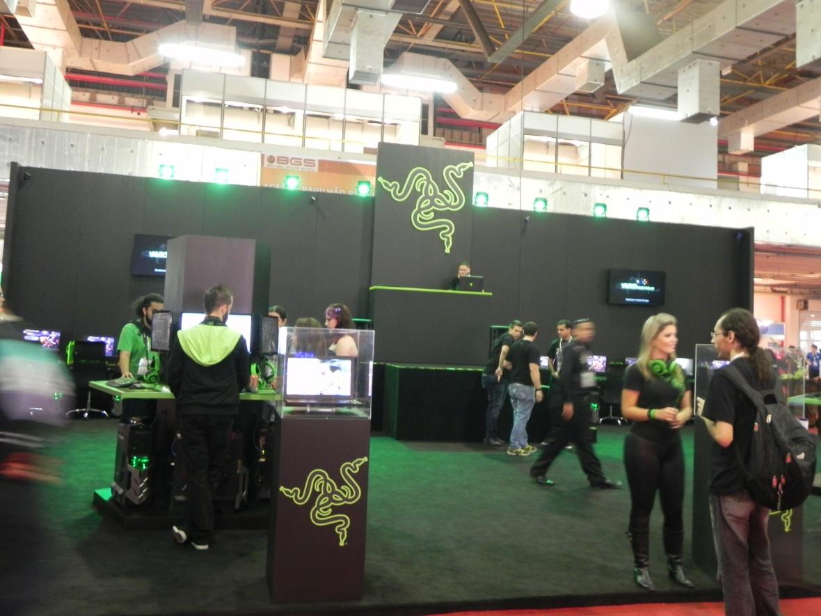 Brasil Game Show 2013 [BGS 2013] estande Razer