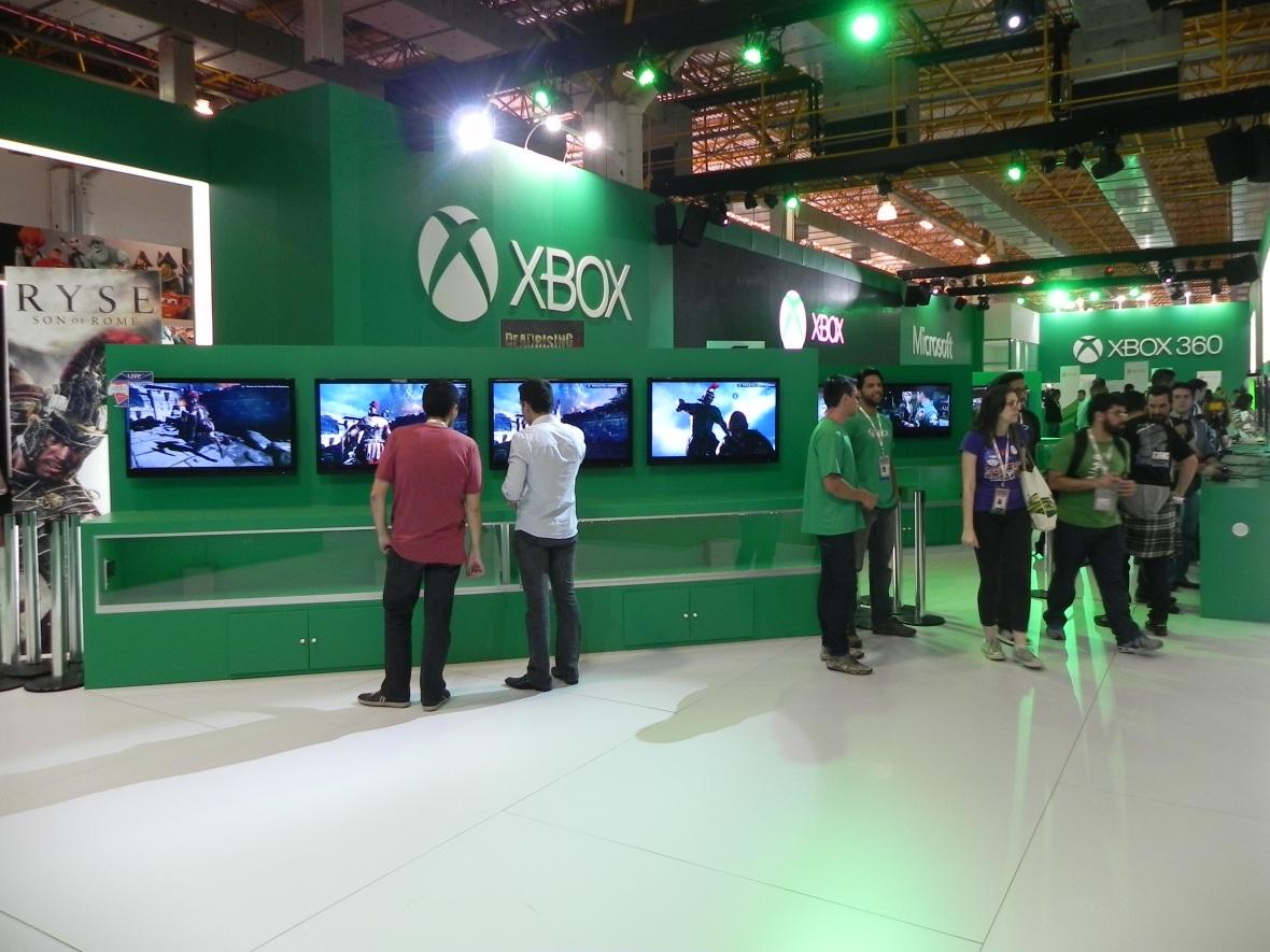 Brasil Game Show 2013 [BGS 2013] estande Xbox One