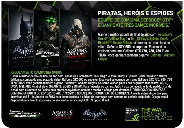 Promoção Nvidia Brasil fim de ano 2013