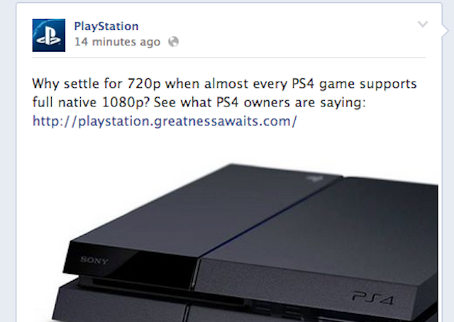 Sony PS4 Xone resolução