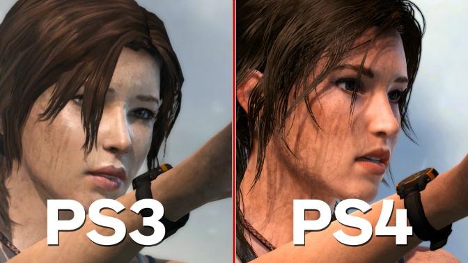 Comparação Lara Croft PS3 vs PS4 Definitive Edition