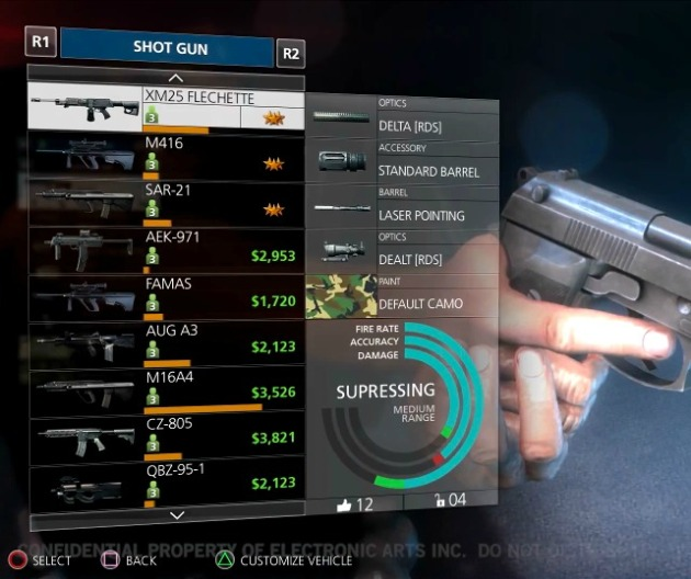 battlefield hardline armas pistola