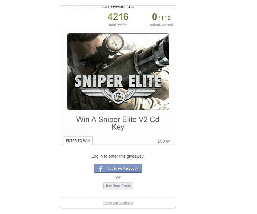 Promoção Sniper Elite V2 lockgamer cdkeypt