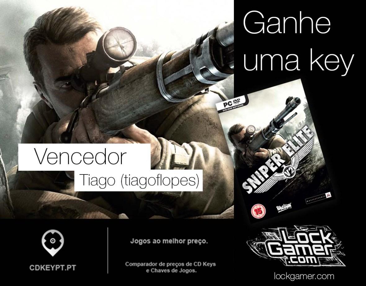 Promoção Sniper Elite V2 lockgamer twitter vencedor