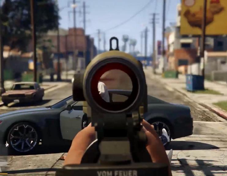 GTA_V_5_visão_primeira_pessoa_tiro_arma_scoop_mira_foto_imagem_gameplay_PC_PS4_XBOX_ONE
