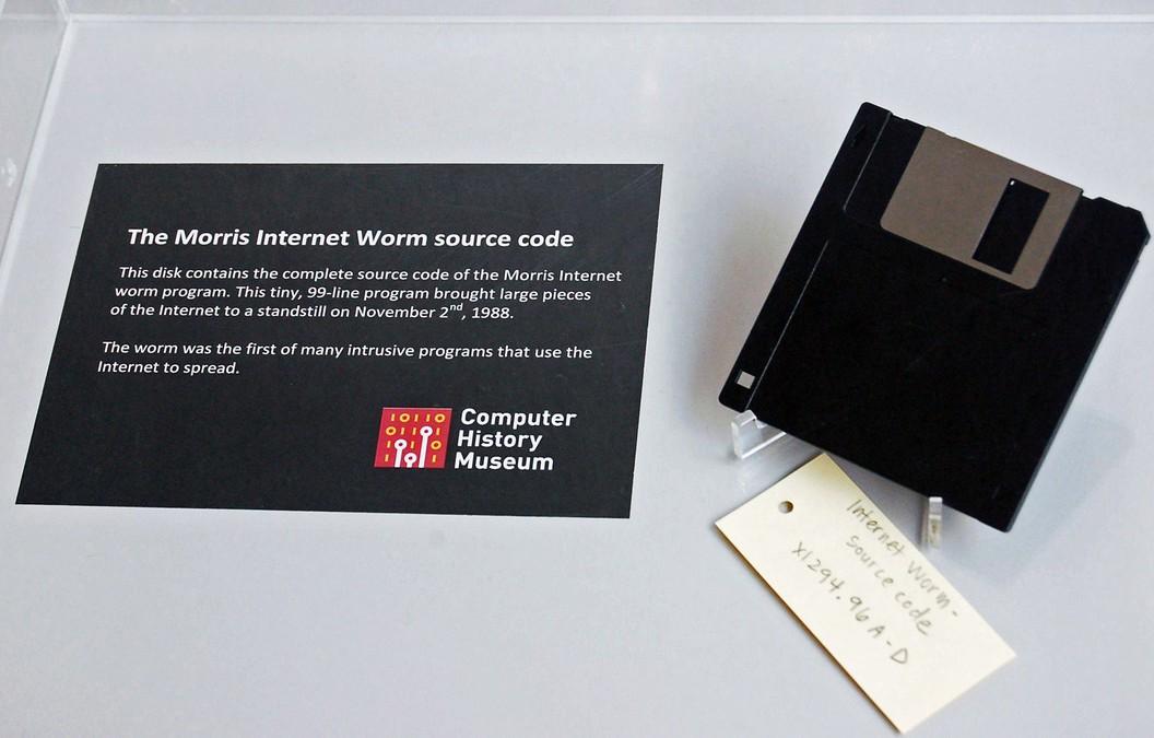 Morris-Worm-Disquete-em-Museu