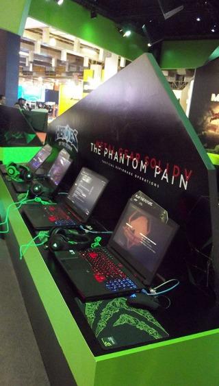 BGS2015 - Estande Nvidia Notebook Gamers