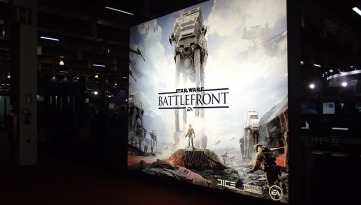 BGS2015 - Estande Warner Star Wars Battlefront Logo