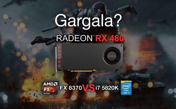 RX 480 comparativo i7 vs FX gargalo gameplay online