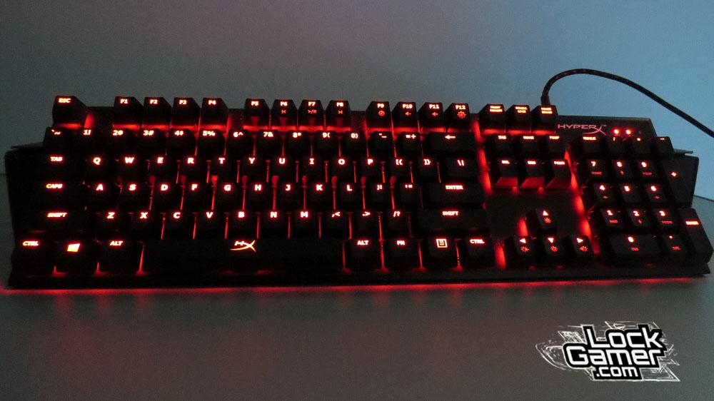 Alloy FPS teclado modo iluminação ligada