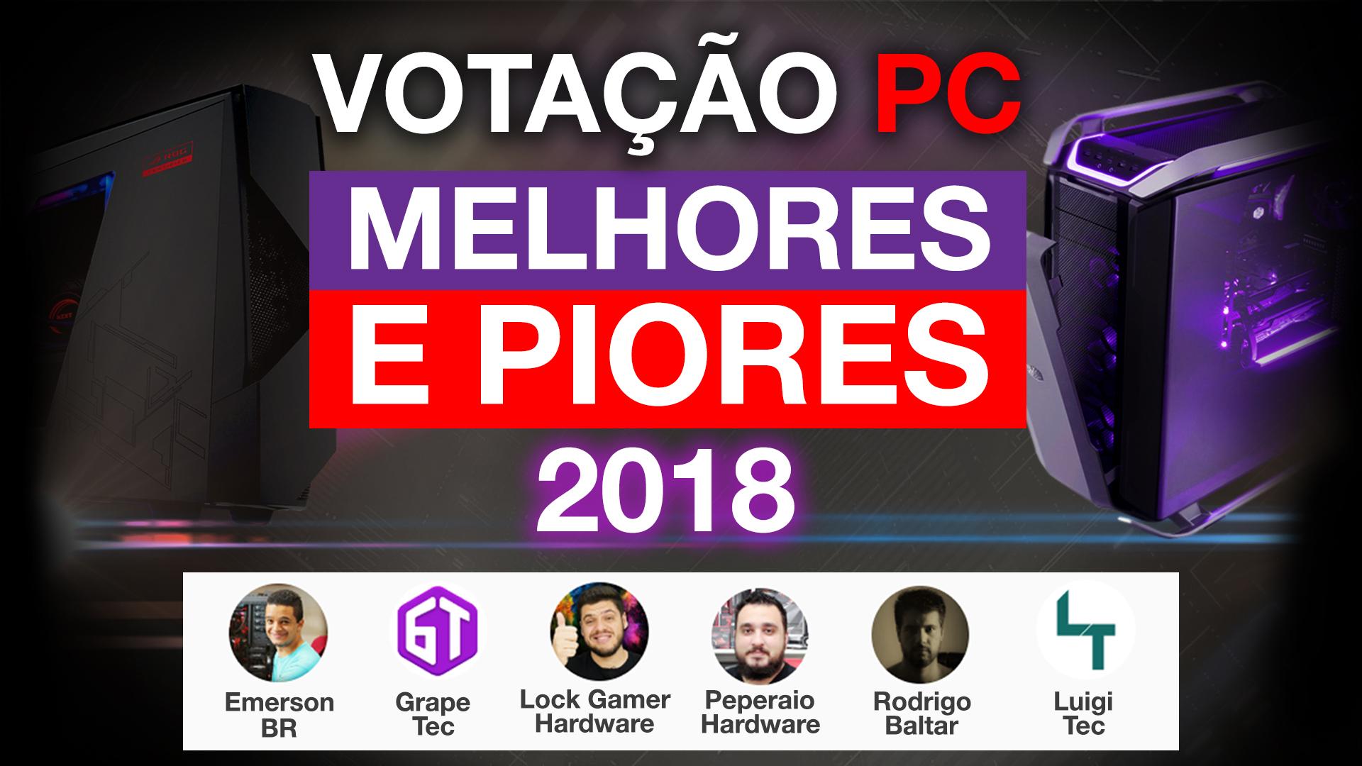 VOTAÇÃO: Melhores e piores PC GAMER 2018